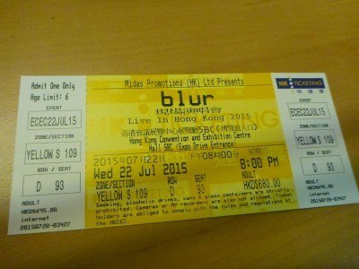 Watching Blur Live in Hong Kong