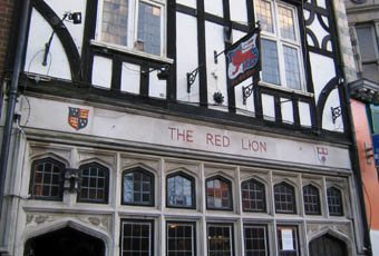 The famous Red Lion pub in Southampton