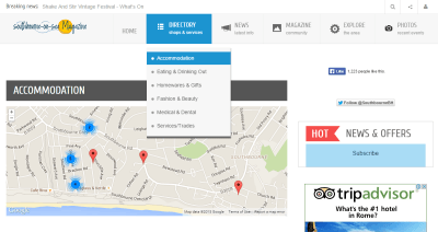 The new Southbourne Website I'm working on