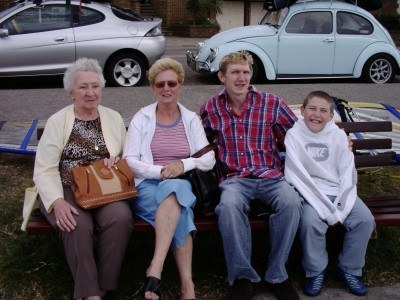 Relaxing at Sandbanks with my family in 2005