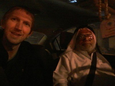 With Ahmed my taxi driver and the first Bahrainian I met outside the airport staff!
