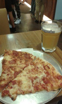 Beer and pizza after lessons