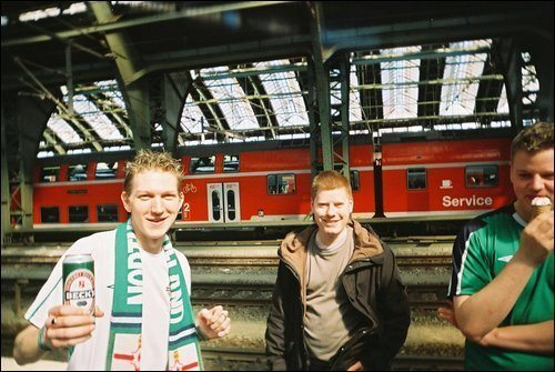 On route to Poland in 2005, just after my mate barfed on the U-Bahn