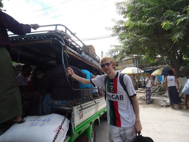 Here I am actually on the Road to Mandalay