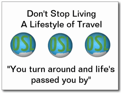 Dont Stop Living postcard front