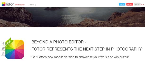 Fotor photo platform