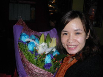 Panny with her flowers from Flower Market Road