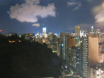 Night fall from the City View Hotel, Yau Ma Tei, Hong Kong