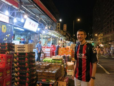 Touring the fruit market in Yau Ma Tei, long before dawn