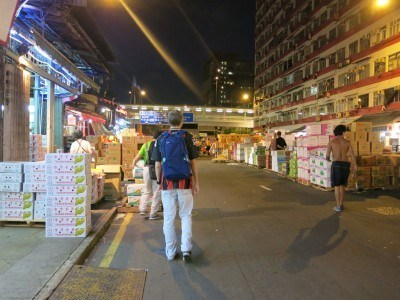 Backpacking in Yau Ma Tei, Hong Kong