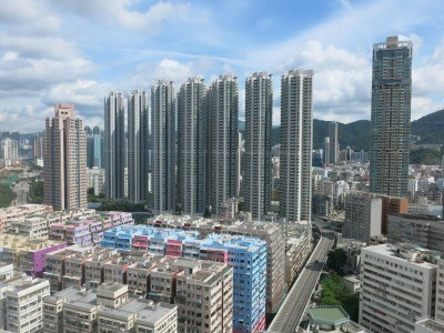 View from our window over Hong Kong