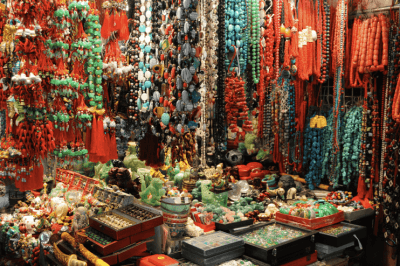 The Jade Market in Yau Ma Tei, Hong Kong