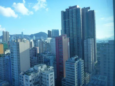 Downtown Kowloon from my room window