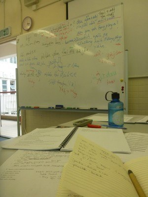 Busy studying Cantonese in Tsim Sha Tsui