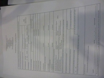 The application form for the Bangladesh Visa