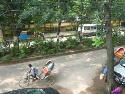 View from the balcony in Nagar Valley Hotel, Uttara.