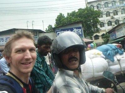 Backpacking in Bangladesh with Khan: Visiting Singer Sewing Machine Shop in Dhaka