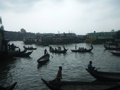 Boats on the Buriganga River