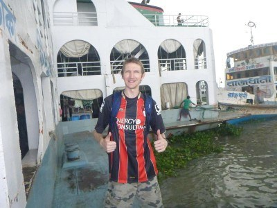 On a boat on the Buriganga River