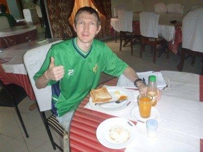 Breakfast in the Nagar Valley Hotel