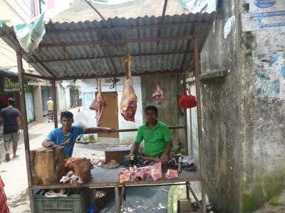 Butchers in Phatergatta, Bangladesh