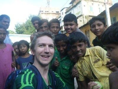 Making new friends at the Shilla to Badar Shah