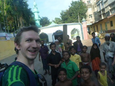 Selfies with the locals in Chittagong, Bangladesh