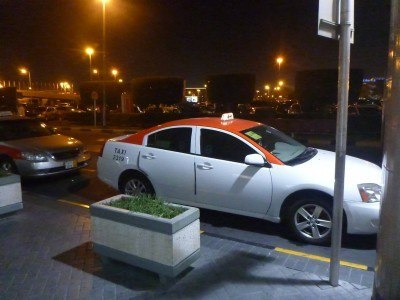 My taxi to Bahrain's capital city - Manama