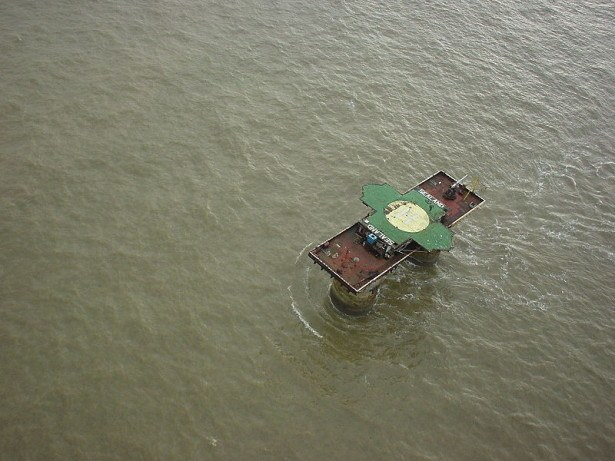 Sealand from above - smallest country in the world