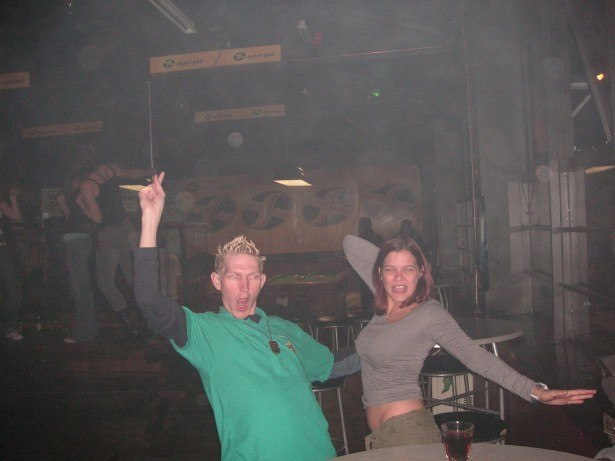 Partying in New Zealand in 2007 with Stacie Jayne