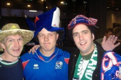 Drinking with Michael McClelland and an Iceland fan