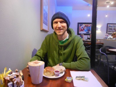 Cappuccino and scones at Knotts in Newtownards, Northern Ireland