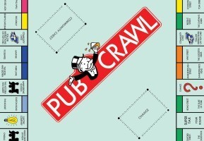 The Ultimate Monopoly Pub Crawl 2015 in London, England