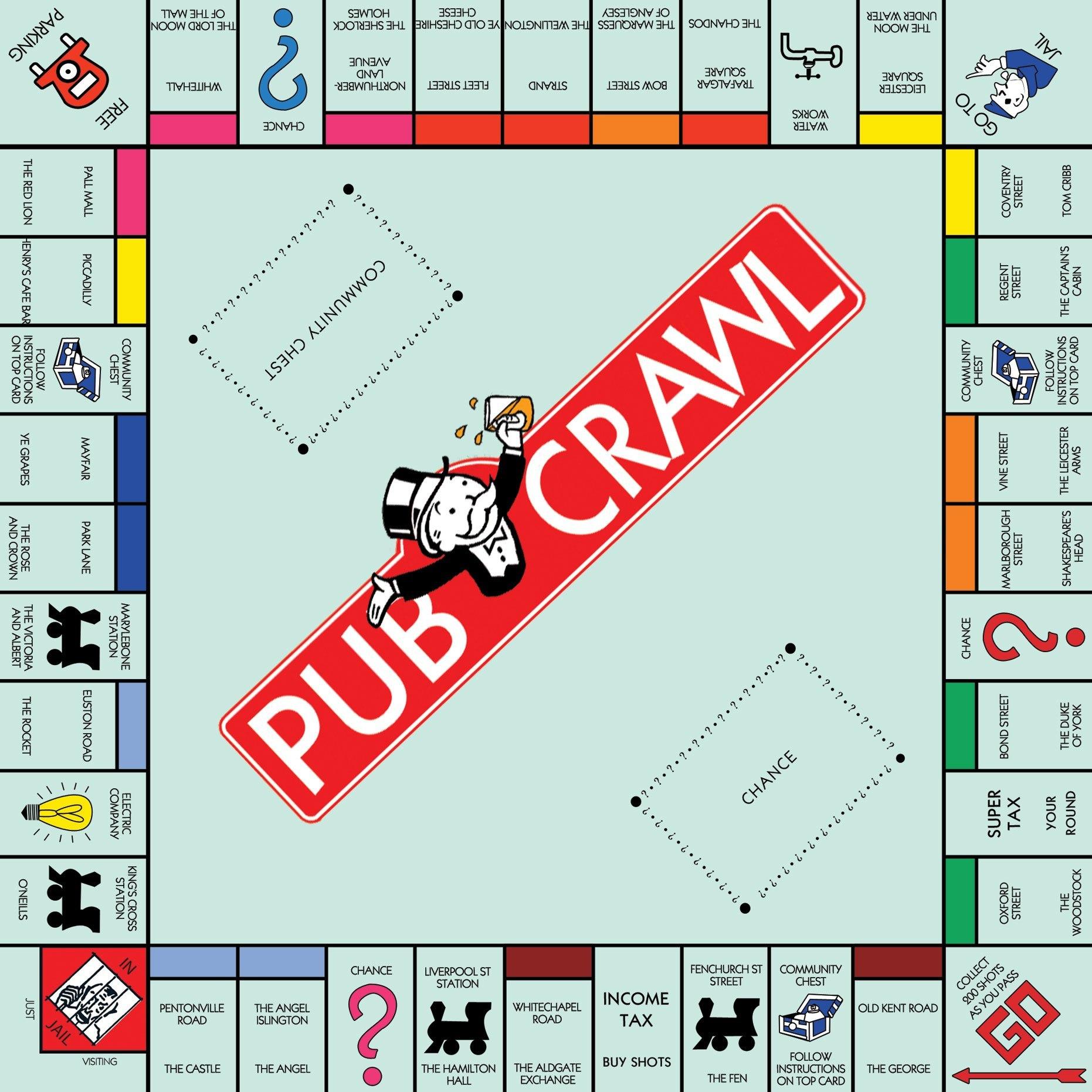Pub crawl london england