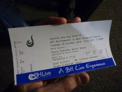 Cheap tickets - League Cup football for a £5