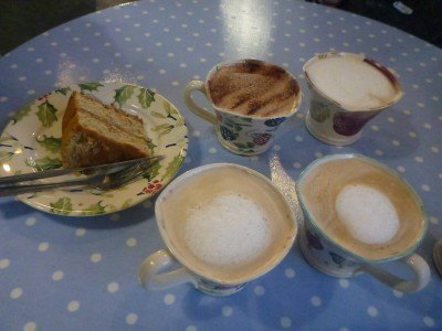 Coffee and cake at Eden Pottery