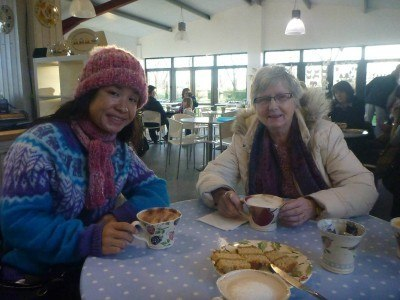 My girlfriend Panny and my Mum at Eden Pottery