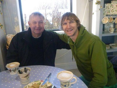 Coffee with Dad in Eden Pottery, Northern Ireland