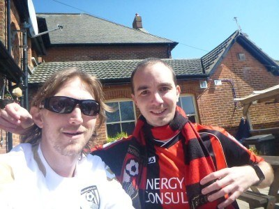 Cherries beat Reading 1-0 and then I flew to England to meet Dan and we were Premier League within a week!