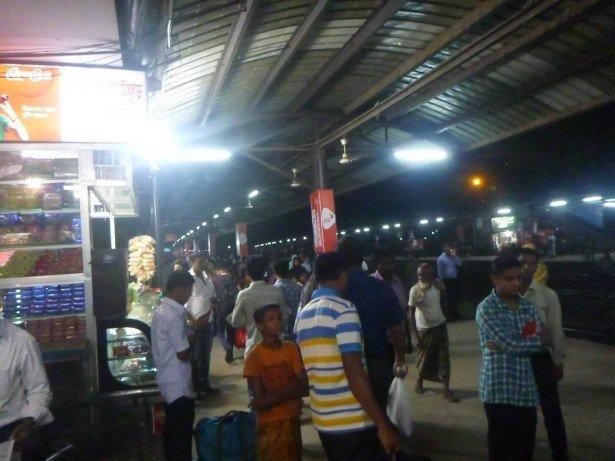 Night train from Dhaka to Chittagong