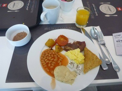Main course for breakfast (first helping!)