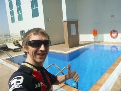 The swimming pool at Ibis Seef Manama
