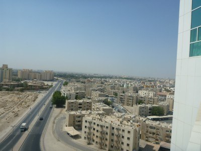 The view back towards the countryside part of Bahrain