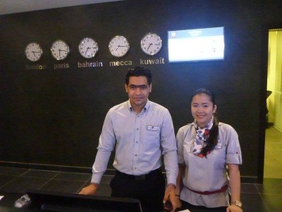 Smiling staff at the Hotel Ibis Seef Manama in Bahrain