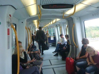 On the Metro to Femoren, Copenhagen, Denmark