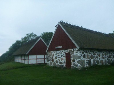 The hut in Sweden just before the Ladonia border.