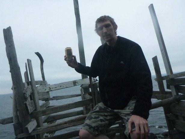 Having a beer in Nimis, Ladonia