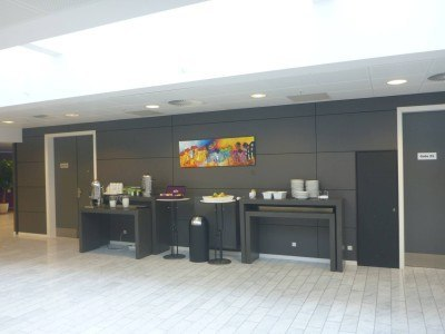 Tea and coffee available all day in the lobby