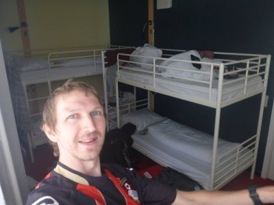 Loving my dorm room at the Copenhagen downtown hostel