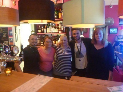 Staff at the Downtown Hostel in Copenhagen, Denmark